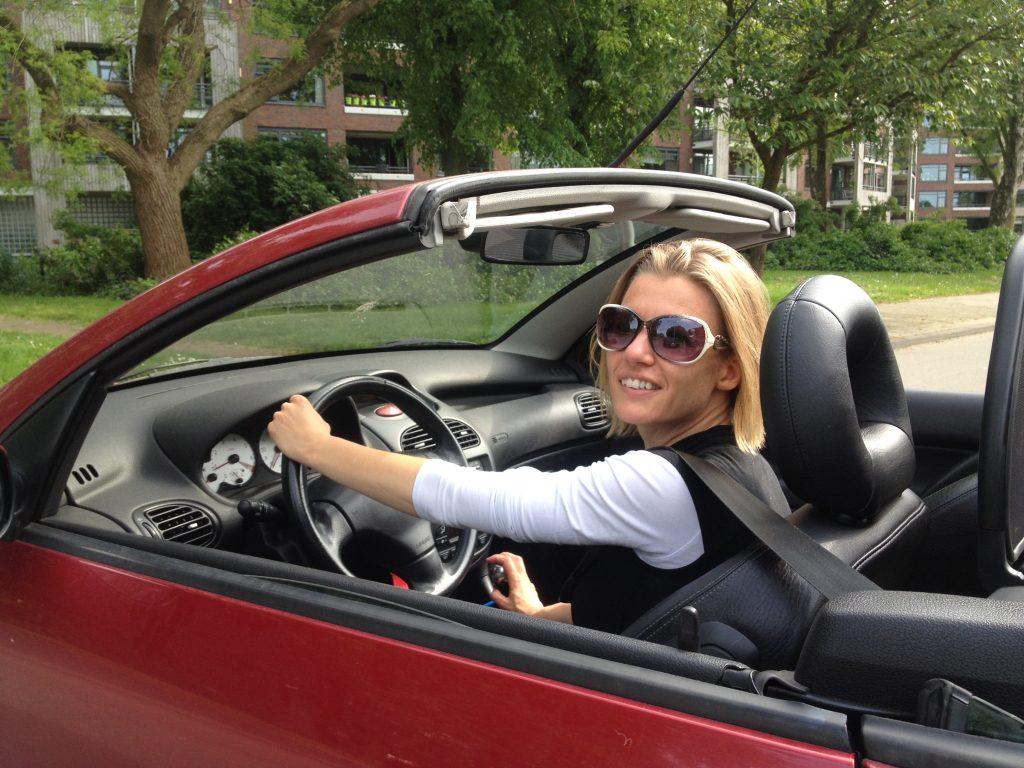 vrijheid in een cabrio