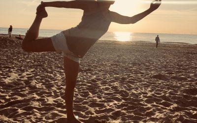 """""""Yoga in de buitenlucht is voor mij de juiste balans tussen yoga en fun."""""""